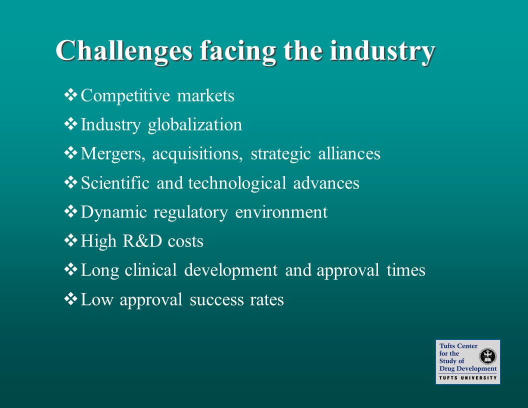 Challenges facing the industry
