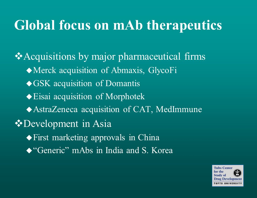 Global focus on mAb therapeutics