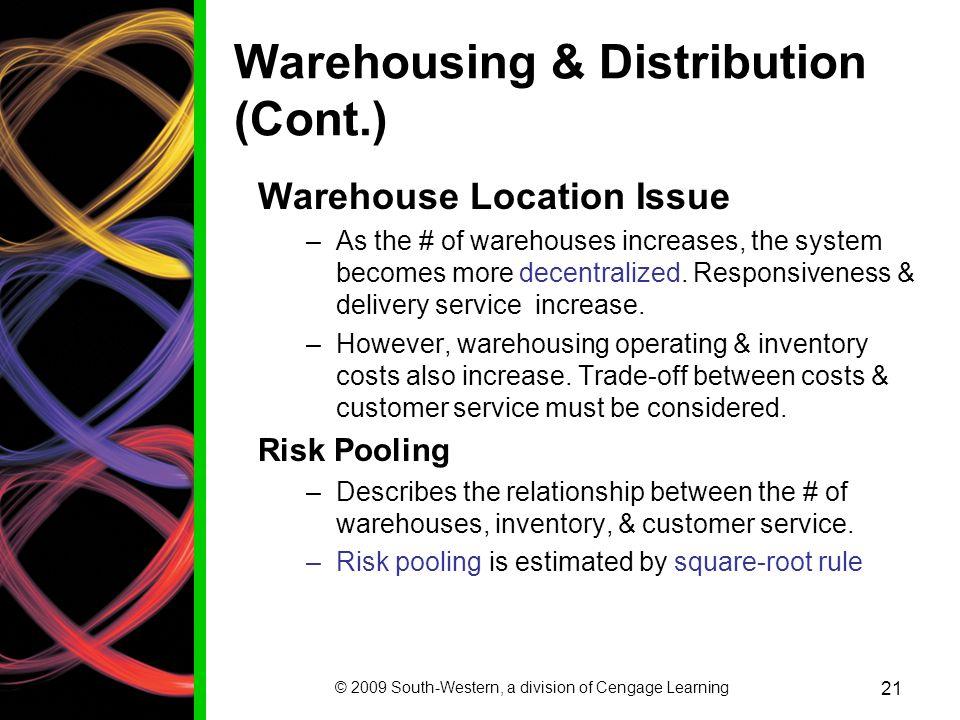 Warehousing & Distribution (Cont.)