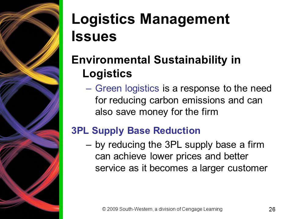 Logistics Management Issues