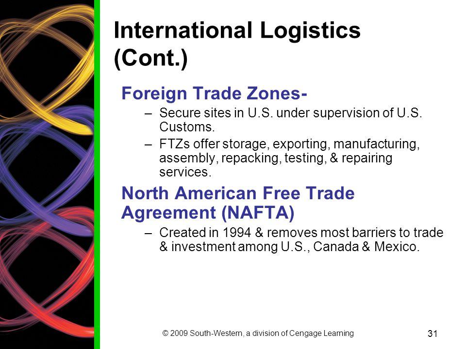 International Logistics (Cont.)