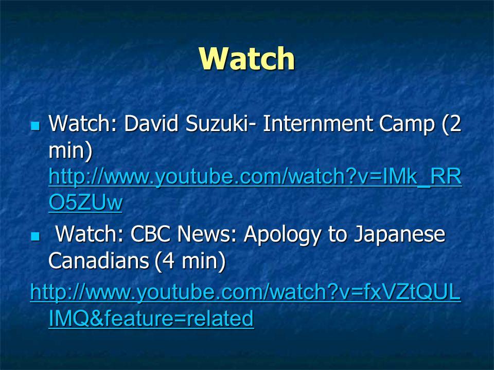 David Suzuki Internment Camp
