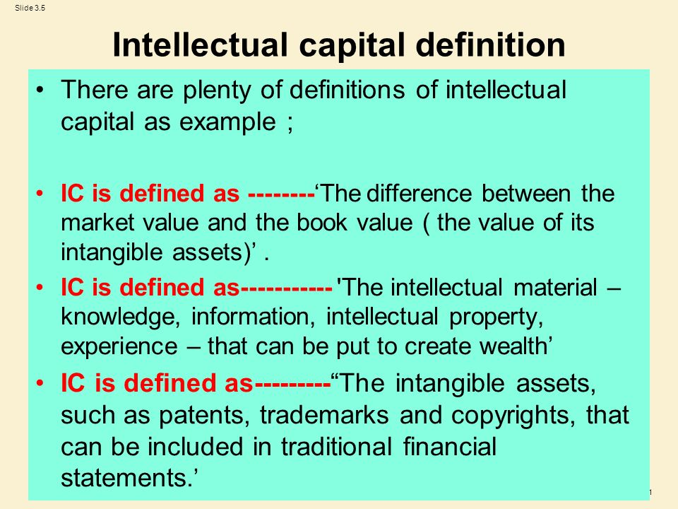 intellectual capital valuation Purpose – this paper aims to assess how to select an appropriate intellectual property valuation method according to the valuation situation and contextdesign.