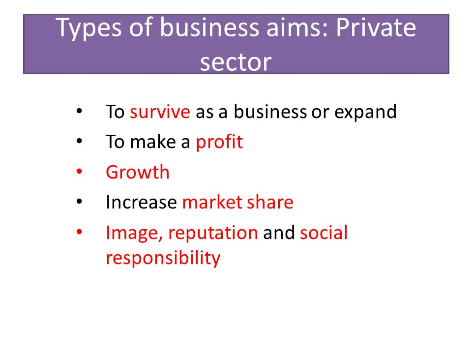 types of business sectors Types of business organizations by: following are the main types of business organization a private sector such type of business is owned & operated by.