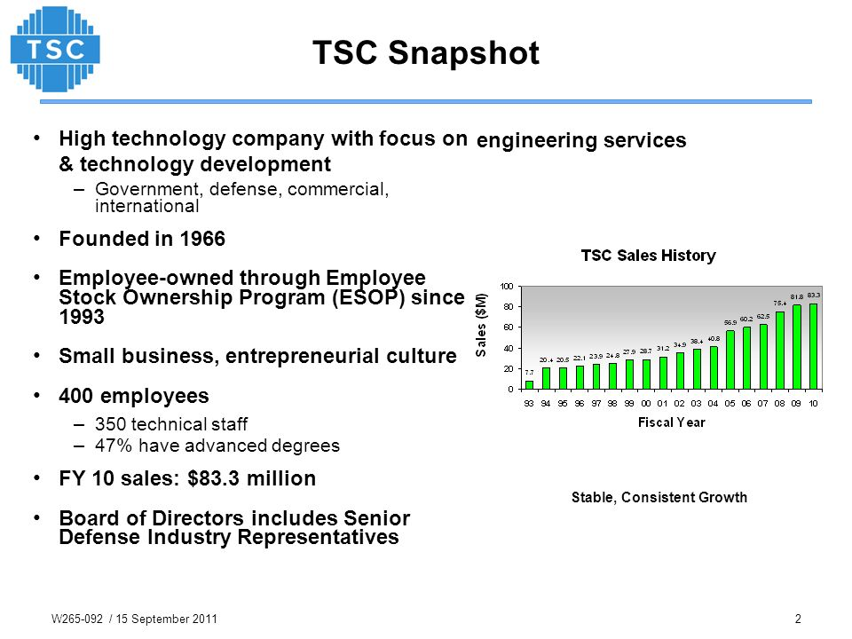 TSC Snapshot engineering services