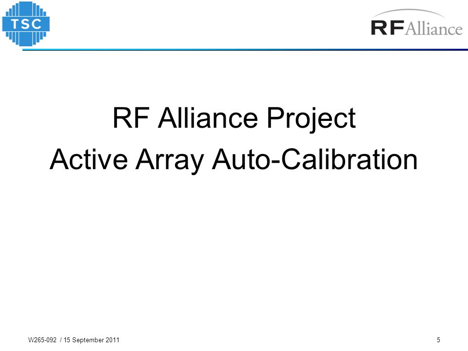 Active Array Auto-Calibration