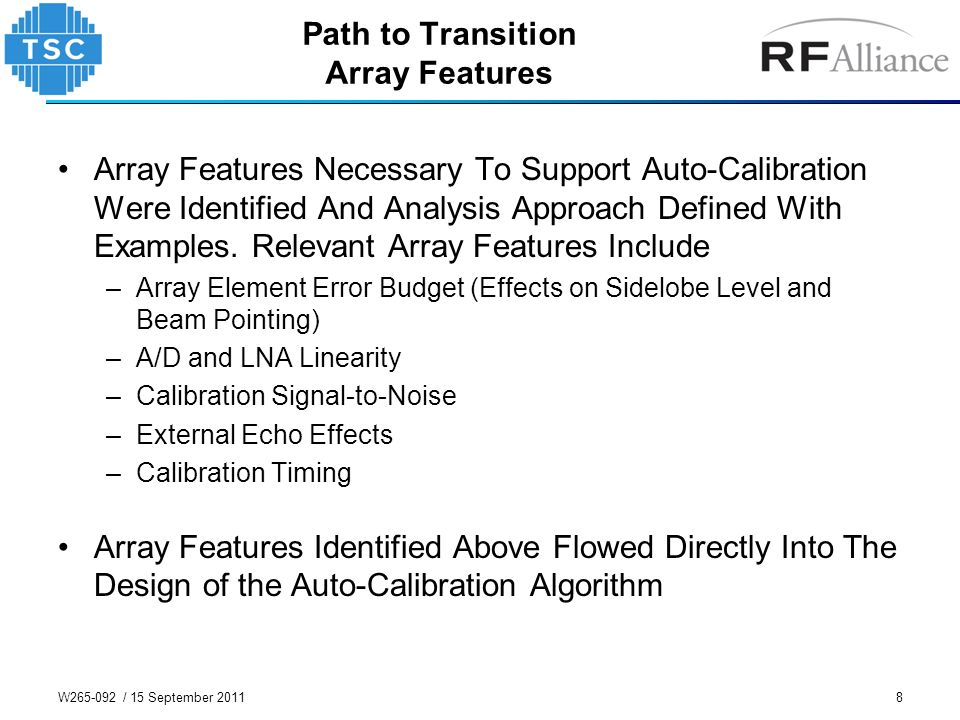 Path to Transition Array Features