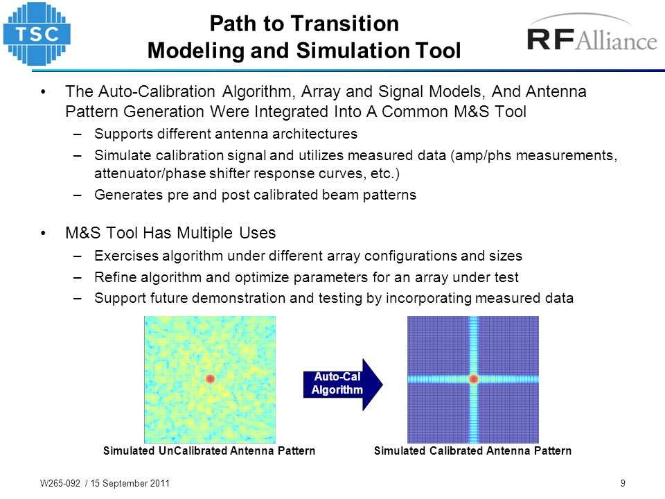 Path to Transition Modeling and Simulation Tool