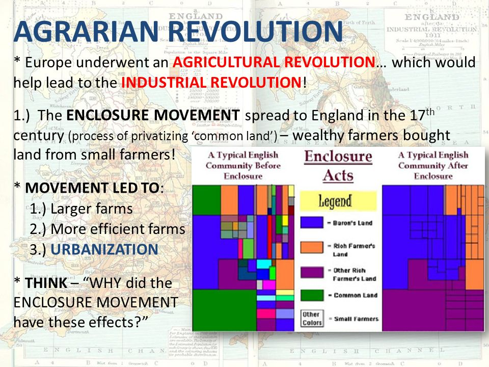 the industrial revolution ppt video online agrarian revolution europe underwent an agricultural revolution which would help lead to the industrial