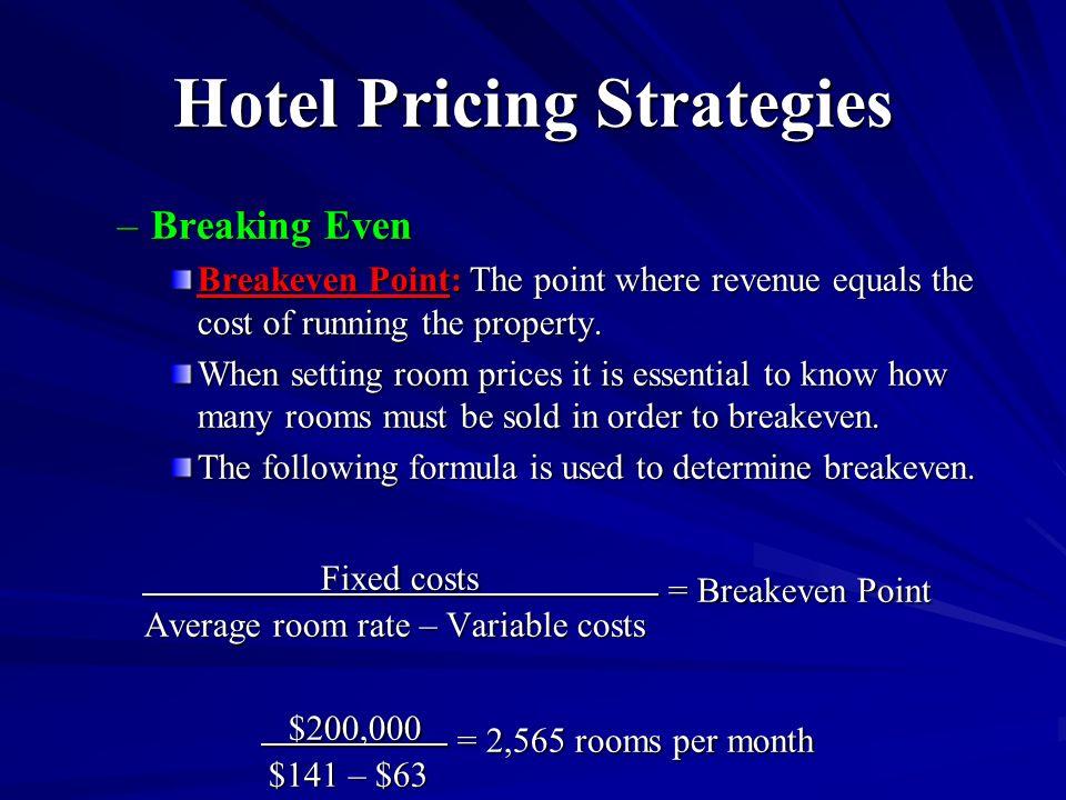 What Is Hotel Breakeven Per Room
