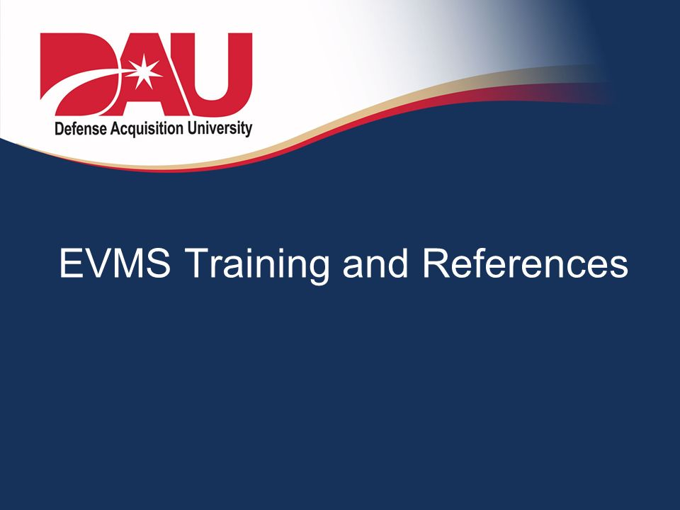 EVMS Training and References