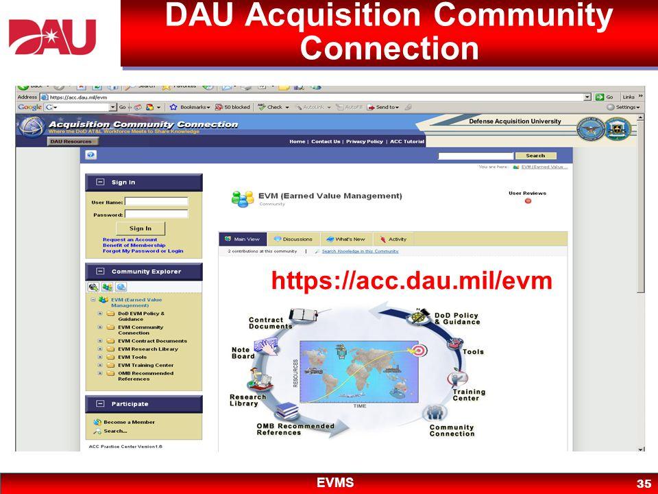 DAU Acquisition Community Connection