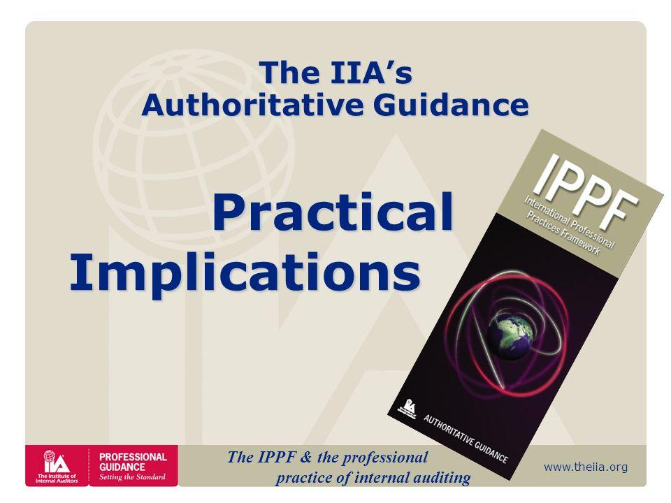 The IIA's Authoritative Guidance
