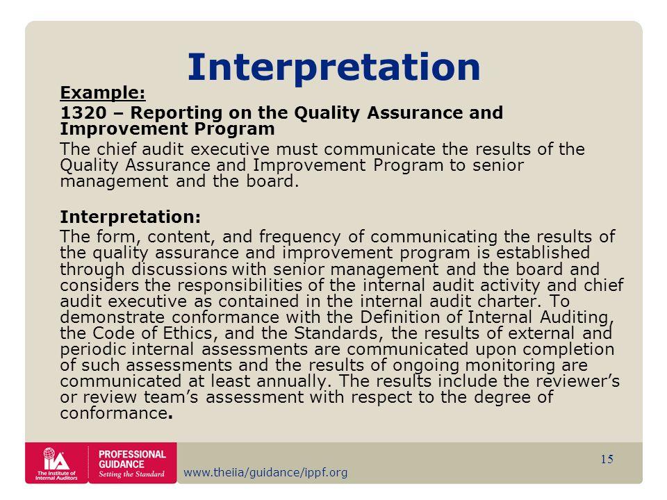 Interpretation Example: