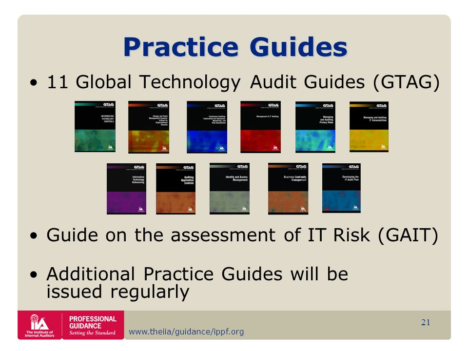 Practice Guides 11 Global Technology Audit Guides (GTAG)