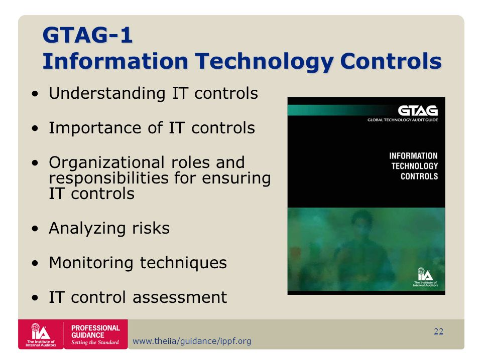 GTAG-1 Information Technology Controls