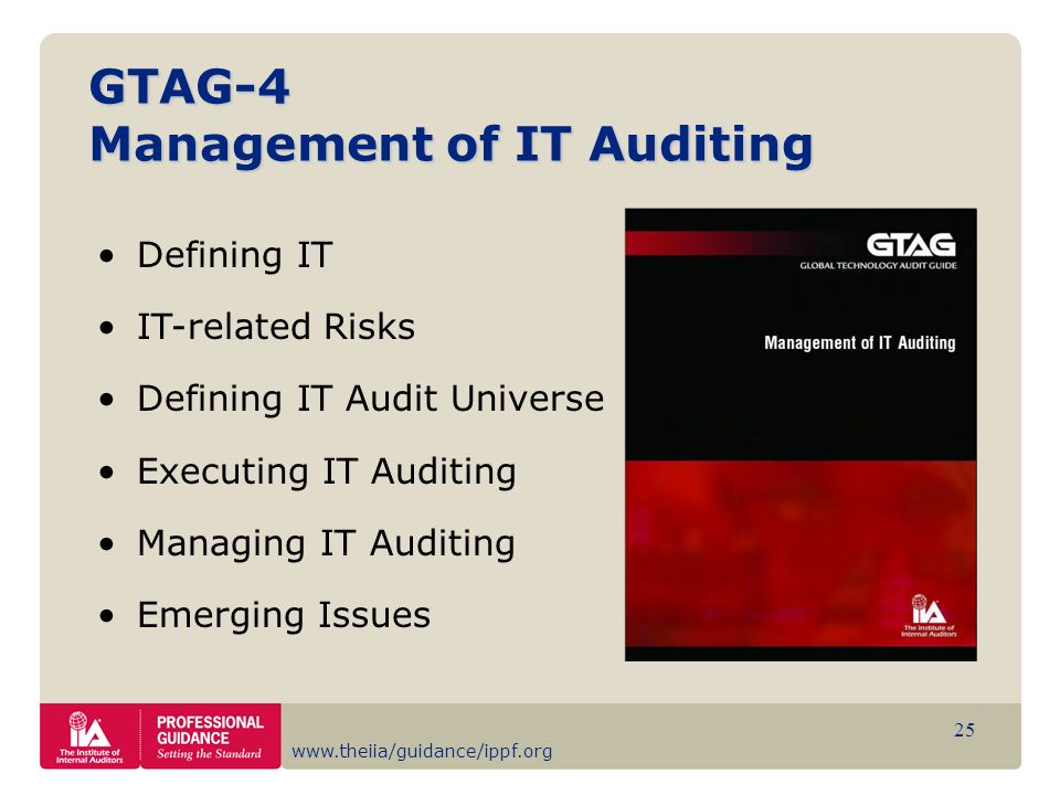 GTAG-4 Management of IT Auditing
