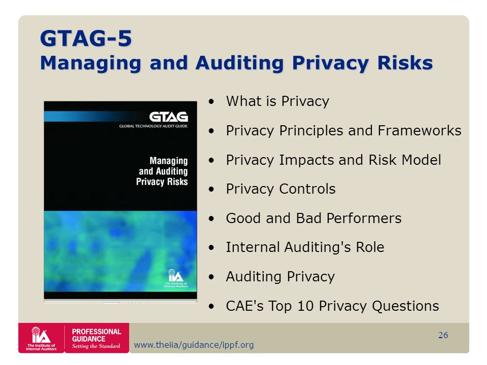 GTAG-5 Managing and Auditing Privacy Risks