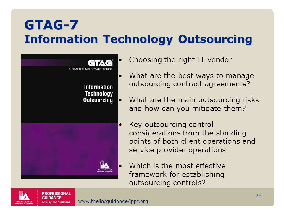 GTAG-7 Information Technology Outsourcing