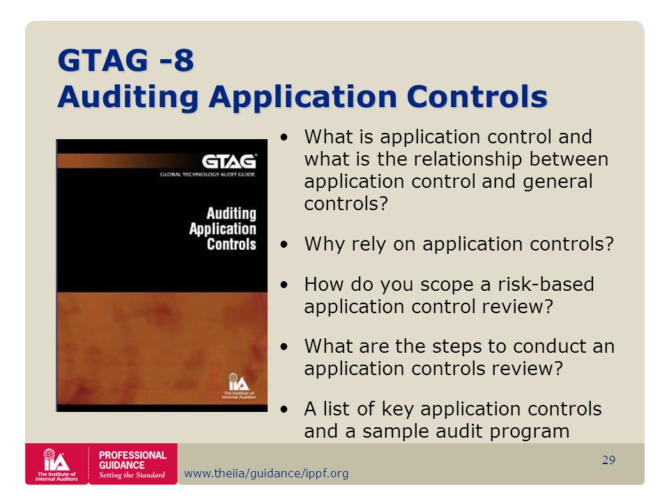 GTAG -8 Auditing Application Controls