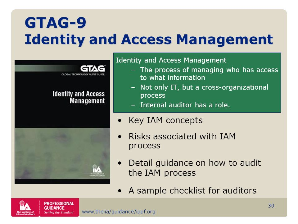 GTAG-9 Identity and Access Management