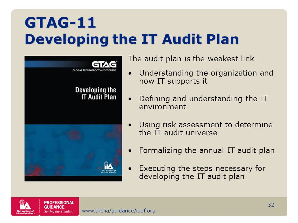 GTAG-11 Developing the IT Audit Plan