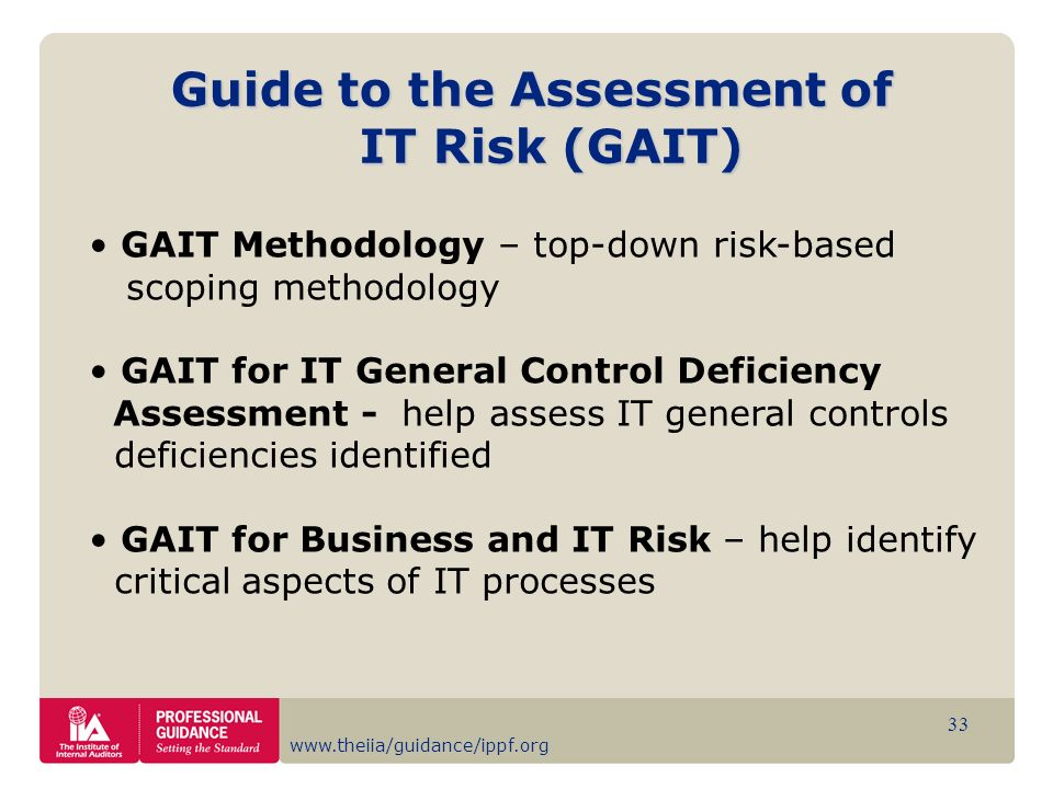 Guide to the Assessment of IT Risk (GAIT)