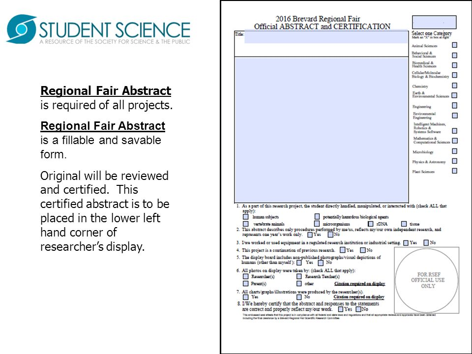 Brevard Regional Science Fairs - ppt video online download