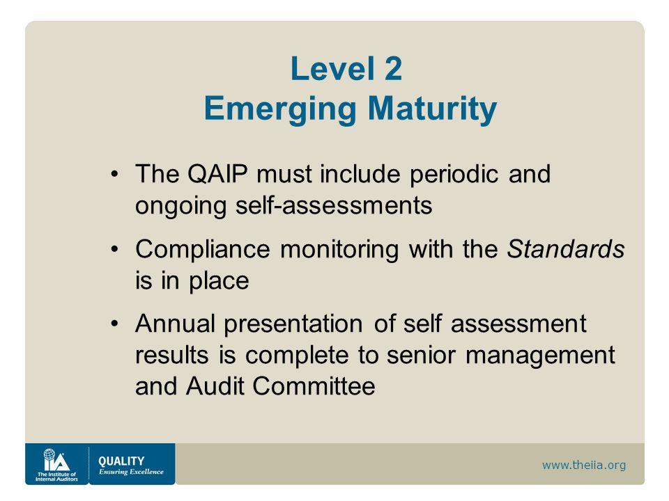 Level 2 Emerging Maturity