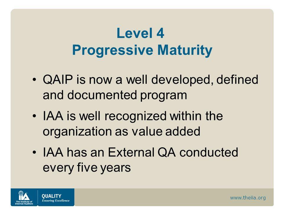 Level 4 Progressive Maturity