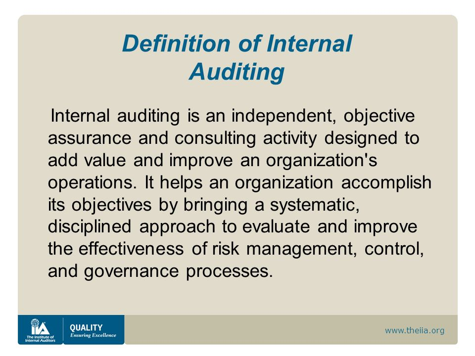 Definition of Internal Auditing
