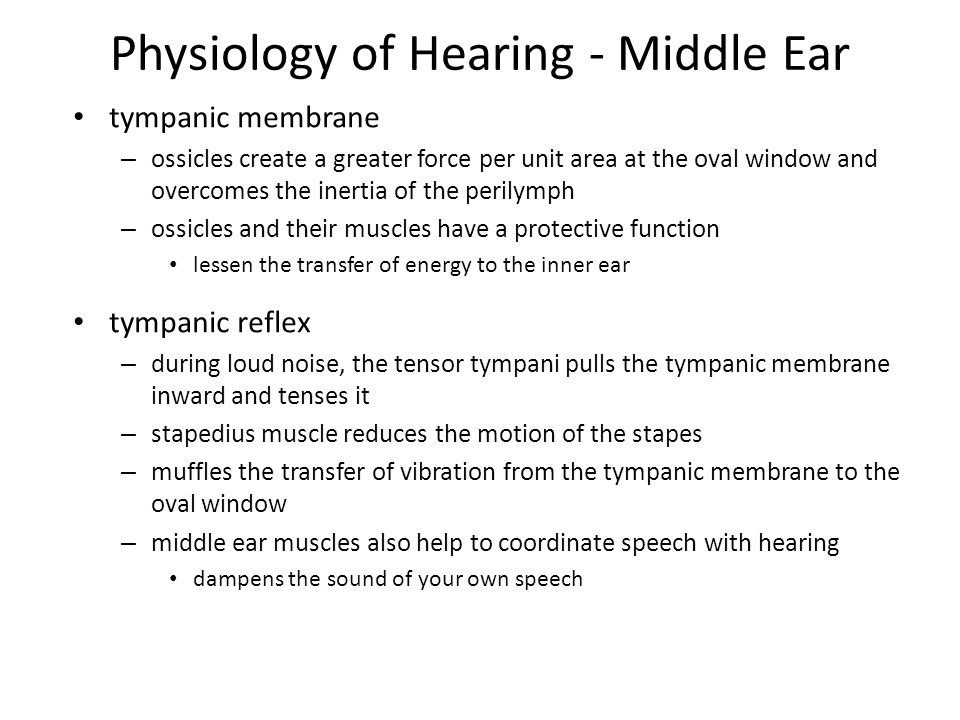 Physiology of Hearing - Middle Ear