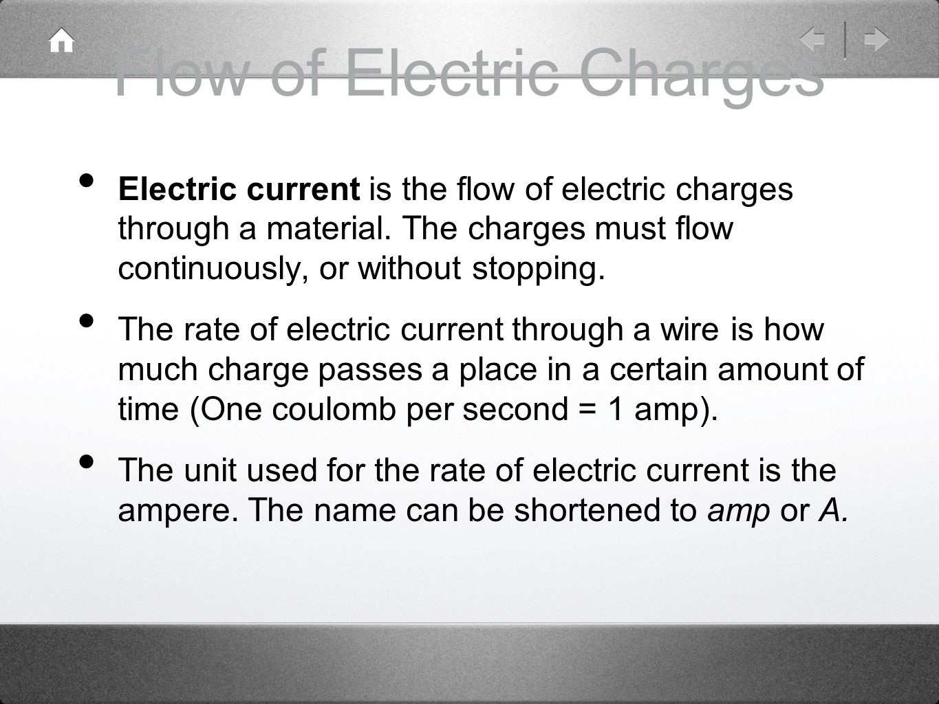 Flow of Electric Charges