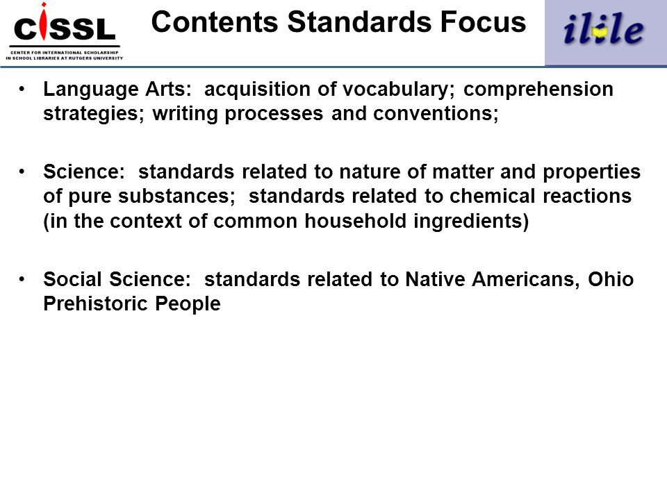 Contents Standards Focus