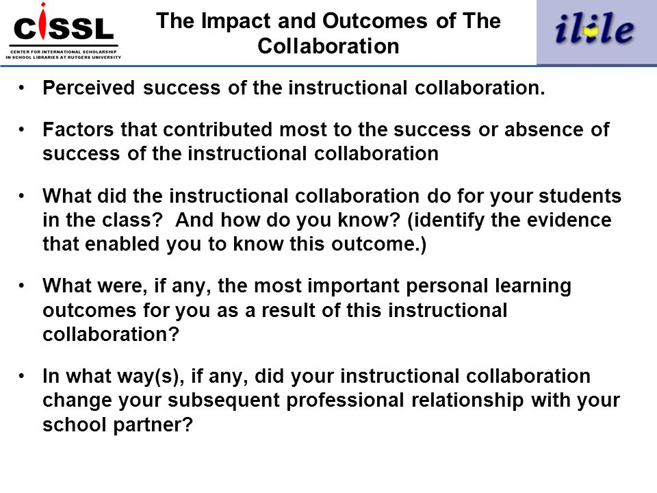The Impact and Outcomes of The Collaboration