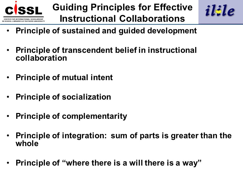 Guiding Principles for Effective Instructional Collaborations