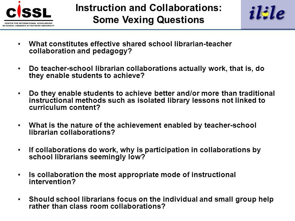 Instruction and Collaborations: