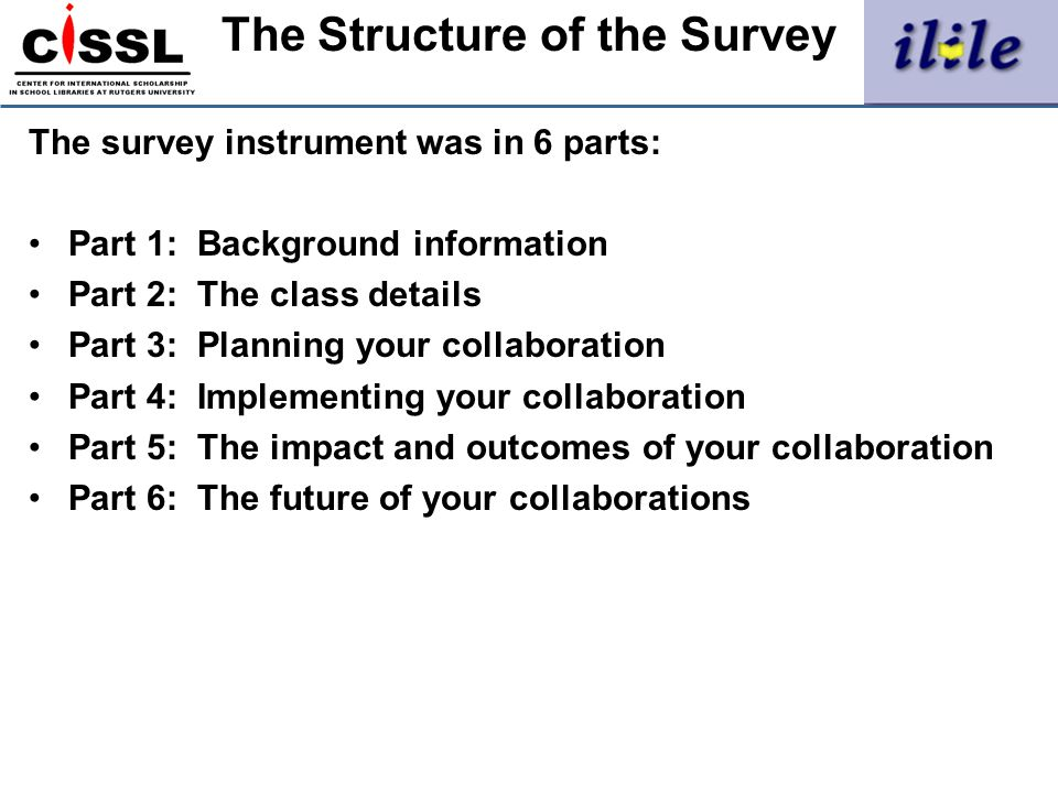 The Structure of the Survey