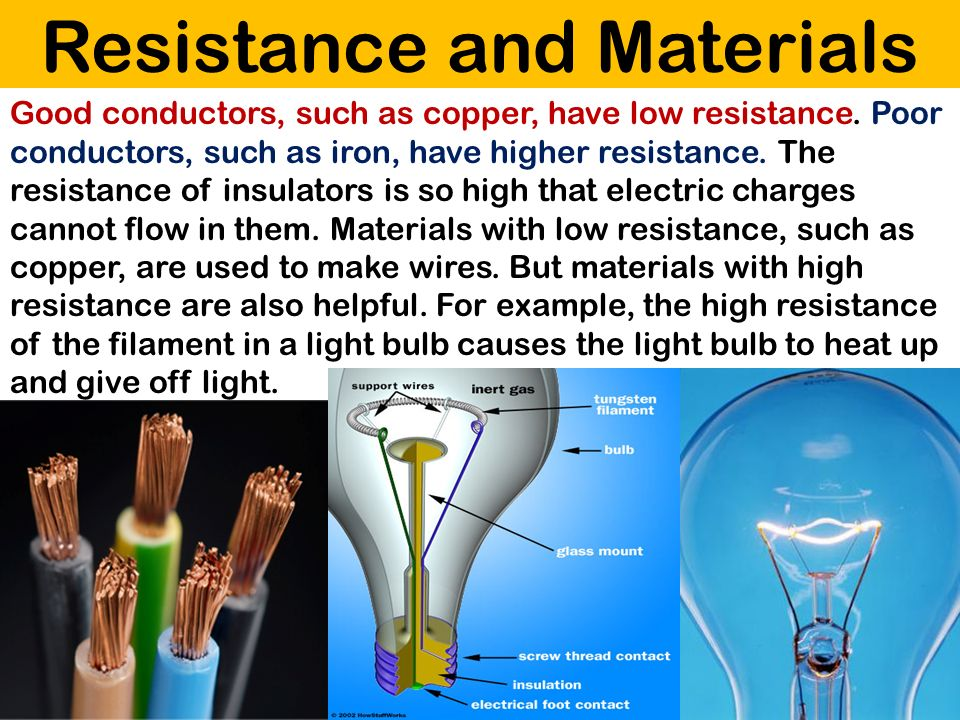 Resistance and Materials