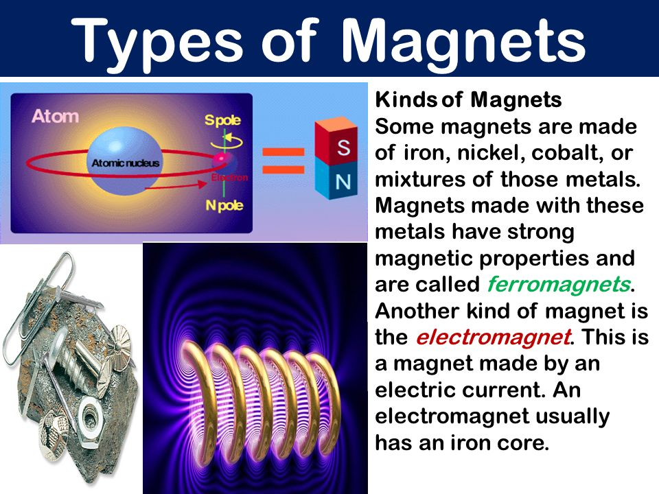 Types of Magnets Kinds of Magnets