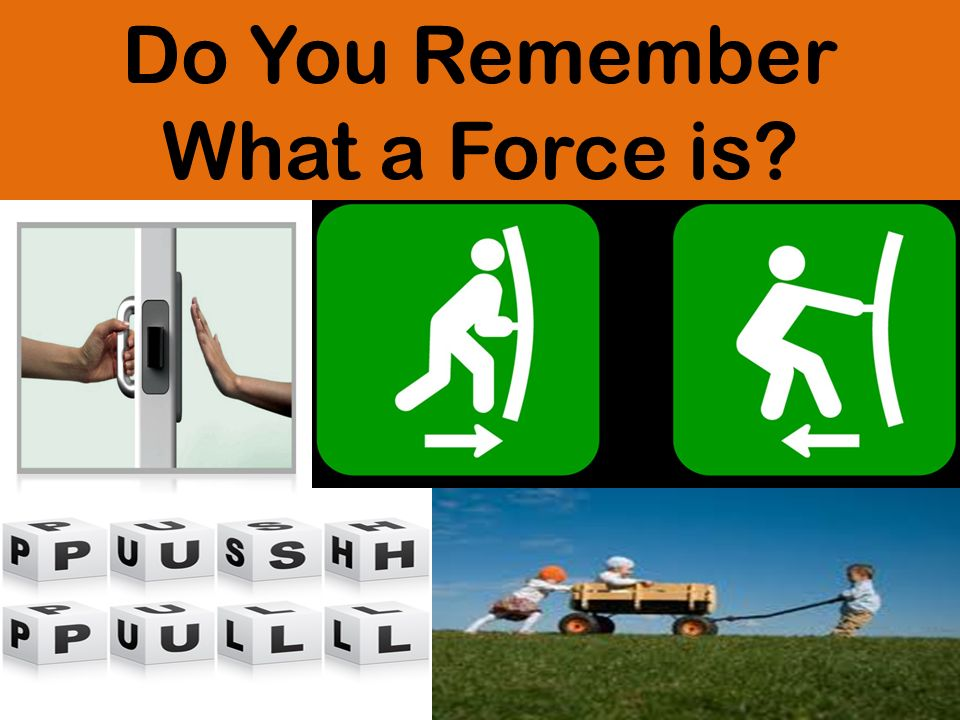 Do You Remember What a Force is