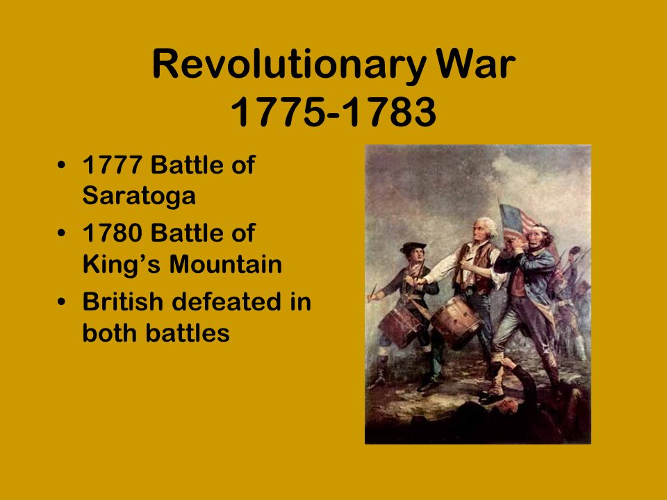 Revolutionary War 1775-1783 1777 Battle of Saratoga