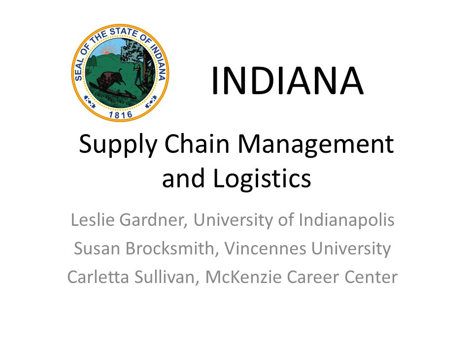 Supply Chain Management and Logistics