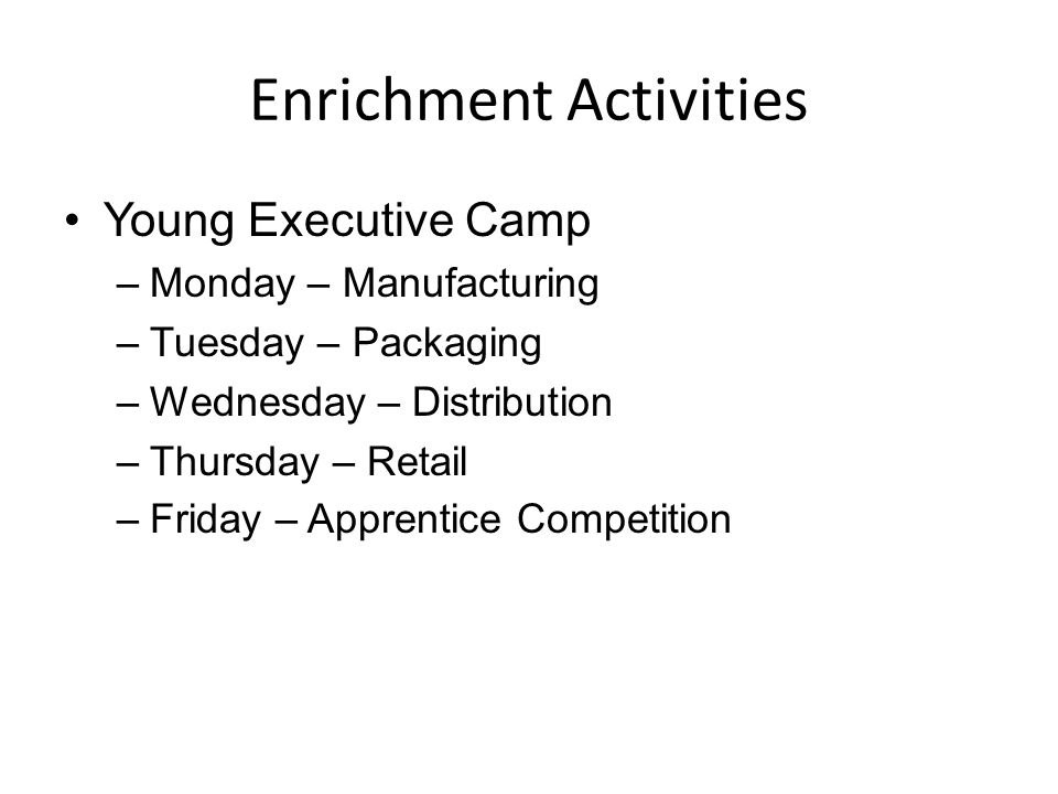 Enrichment Activities