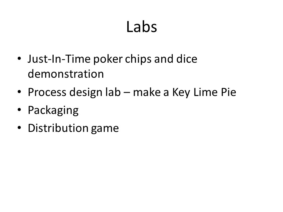 Labs Just-In-Time poker chips and dice demonstration