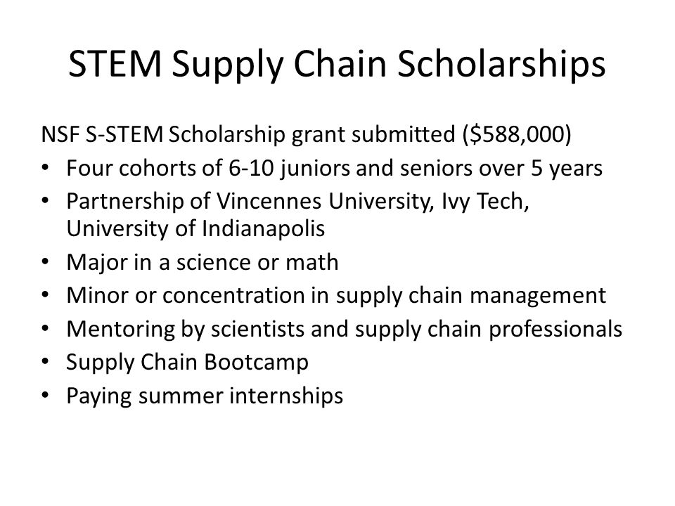 STEM Supply Chain Scholarships