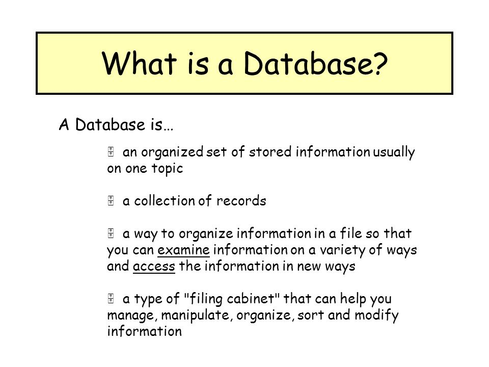 define a database and a database What is sql sql (pronounced ess-que-el) stands for structured query language sql is used to communicate with a database according to ansi (american national standards institute), it is the standard language for relational database.
