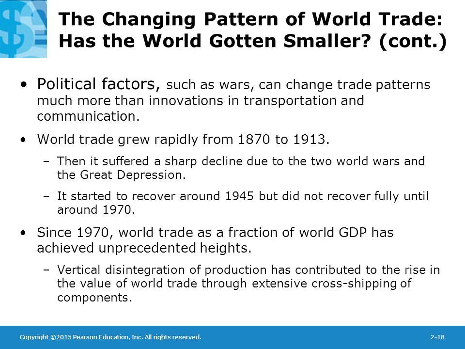 world trade patterns The following points provide an overview of global trade patterns.
