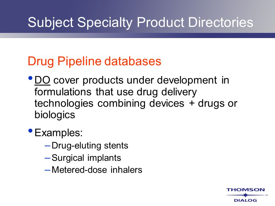 Subject Specialty Product Directories