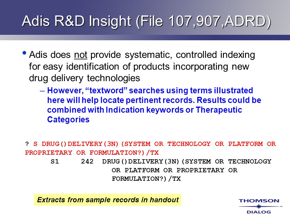 Adis R&D Insight (File 107,907,ADRD)